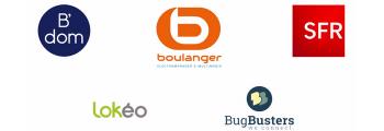 Des partenaires de confiance : SFR, Boulanger, Bugbusters…